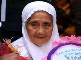 104岁印尼老奶奶到麦加朝觐